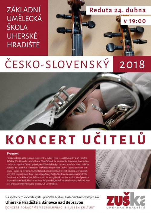 ČESKO-SLOVENSKÝ KONCERT UČITELŮ
