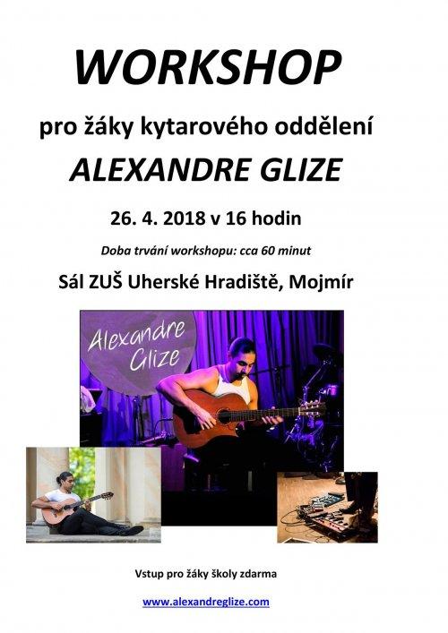 Kytarový workshop   26. 4. 2018 od 16:00 hodin v sále na Mojmíru.