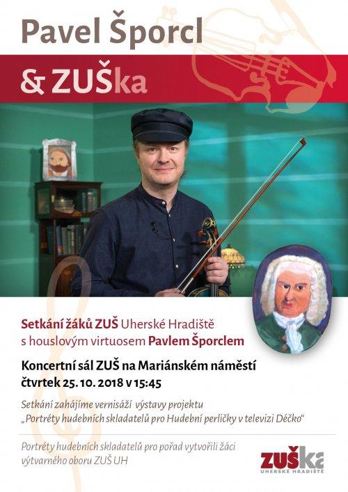 Setkání žáků ZUŠ | s houslovým virtuosem Pavlem Šporclem