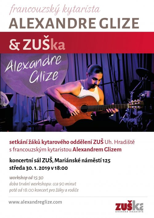 Workshop a koncert francouzského kytaristy Alexandra Glizeho