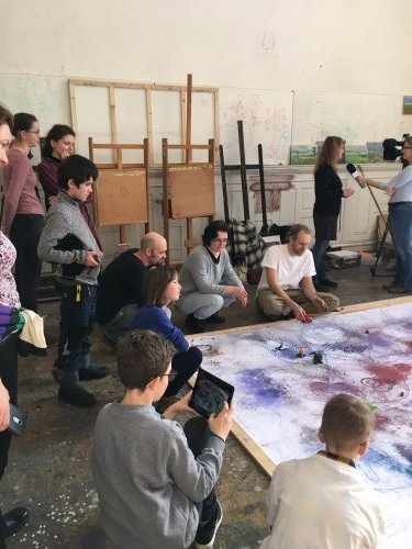 Talentované děti | díky stipendiu tvoří přímo v ateliérech zkušených výtvarníků