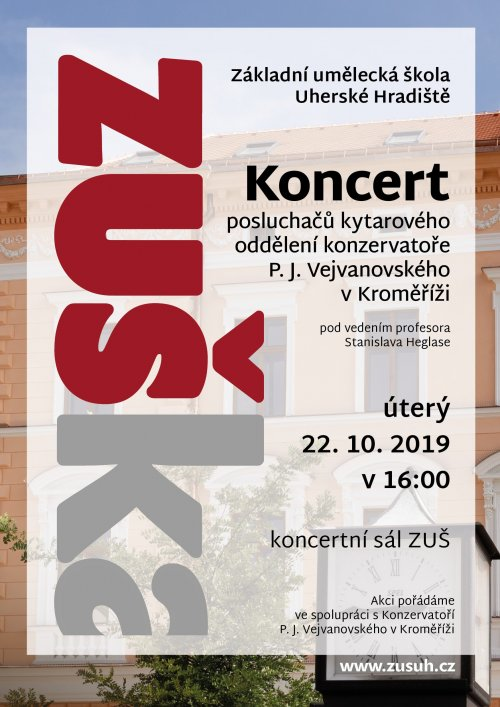 Koncert kytarového oddělení | konzervatoře P. J. Vejvanovského v Kroměříži
