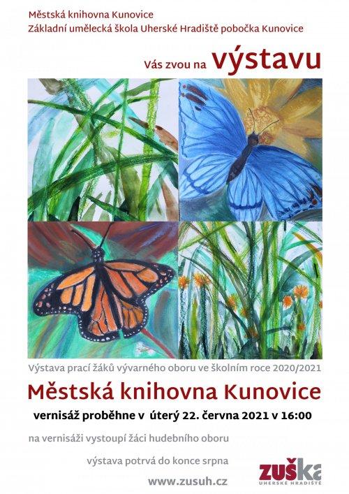 Výstava žáků pobočky Kunovice
