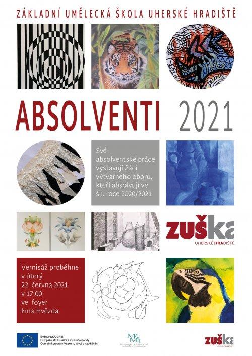 Výstava výtvarného oboru Absolventi 2021